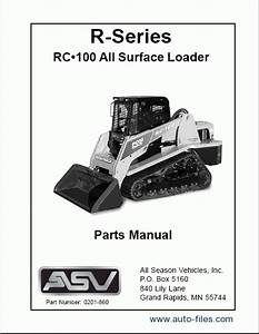 Asv Rc-100  Spare Parts Catalogs Download Electronic Parts Catalog  Epc