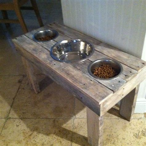 table food for dogs diy dog food bowl stand made out of pallets brian 39 s