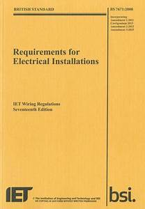 Requirements For Electrical Installations  Iet Wiring