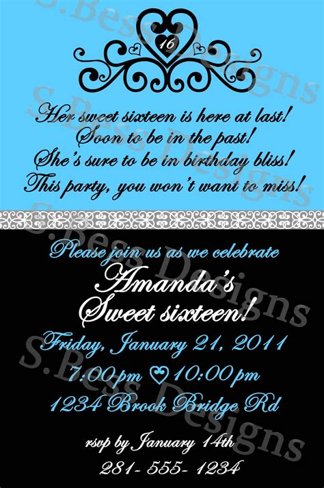 16th Birthday Invitations Templates by Free Sweet 16 Invitation Template