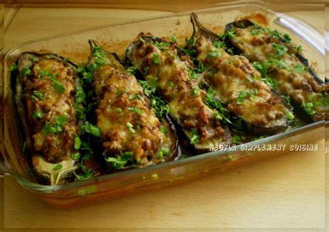 aubergines farcies  la viande hachee simplement cuisine