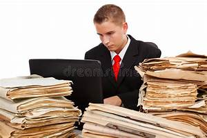 Man working hard stock photo. Image of file, document ...