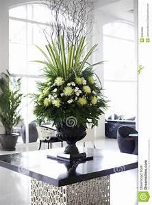 Beautiful Flower Arrangement In Large Foyer Royalty Free