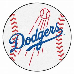 FANMATS MLB Los Angeles Dodgers White 2 ft x 2 ft Round Area Rug-6524 - The Home Depot
