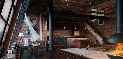 Industrial Loft London by Daniele Boldi Cotti   3D Artist