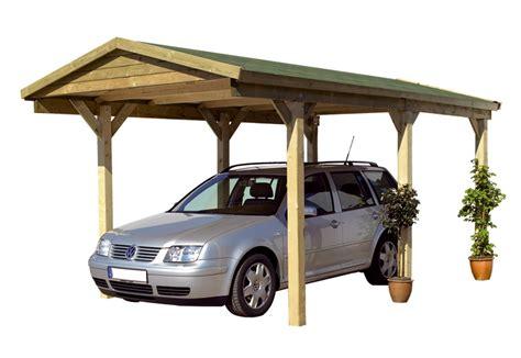 abri bois voiture carport bois karibu