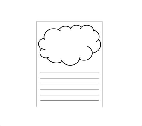 Cloud Template With Lines by 5 Printable Cloud Templates Doc Pdf Free Premium
