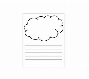 9 printable cloud templates doc pdf free premium With cloud template with lines