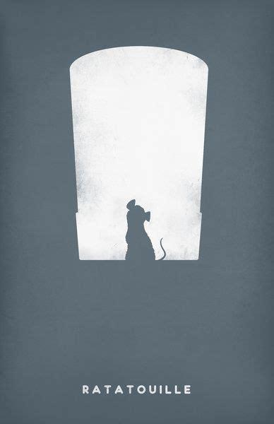 Ratatouille  Pixar Minimalist Posters  3,2,1 Acción