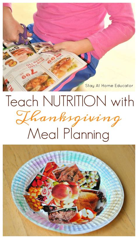 3 no fuss thanksgiving nutrition activities for preschoolers 609 | Teach nutrition and scissor skills by inviting preschoolers to help plan Thanksgiving meal.
