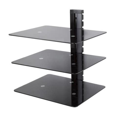tv shelf mount avf wall mounted av component shelving bracket 3 shelf