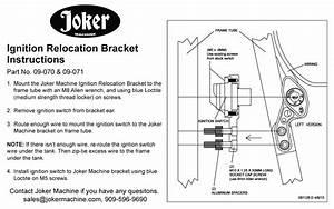 Joker Machine Ignition Switch Relocation Bracket For