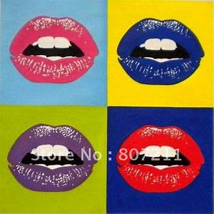Andy Warhol Dose : 2018 andy warhol kiss goodbye lips pop art handpainted oil painting on canvas warhol style ~ One.caynefoto.club Haus und Dekorationen