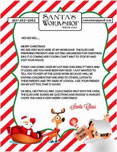 Hear from santa claus receive a letter phone call email for Generic letter from santa