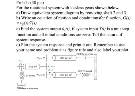 For The Rotational System With Lossless Gears Show