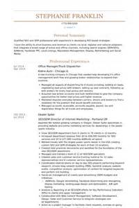 Dispatcher Resume by R 233 Partiteur Exemple De Cv Base De Donn 233 Es Des Cv De Visualcv