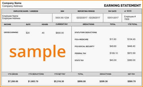 paycheck stub  simple salary slip
