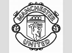manchester united logo soccer coloring pages ~~Luhur Hati~~