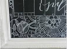 Chalkboard Calligraphy Calendar with Henna The Postman's