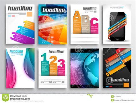 Web Design Brochure Template by Set Of Flyer Design Web Templates Brochure Designs Stock