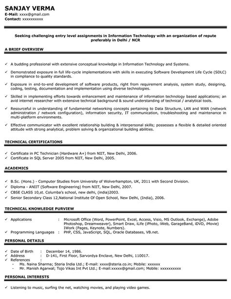 HR Resume Sample - HR Sample Resume - Sample Resume for HR - Naukri.com
