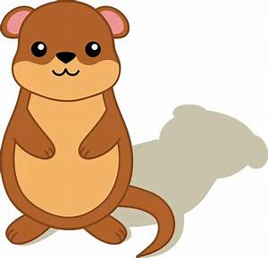 Groundhog With Shadow - Free Clip Art