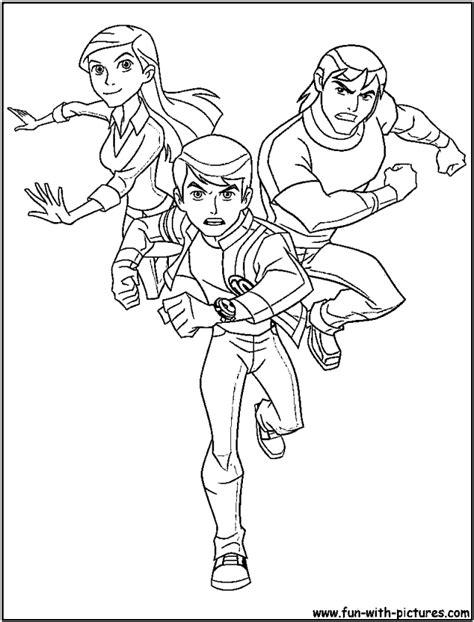 Ben 10 Coloring Pages Alien Force Az