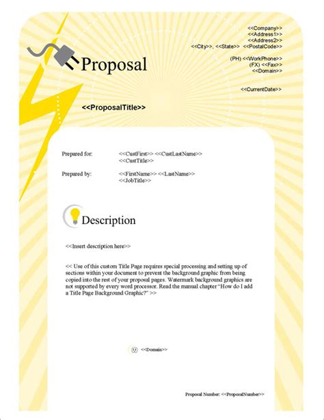proposal pack electrical  software templates samples