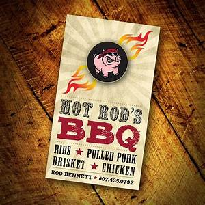 Bbq business card design designs by lea pinterest for Bbq business cards