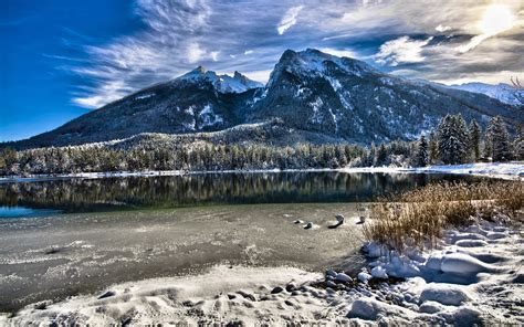 Winter Landscape In Mountains Hd Desktop Wallpaper Hd