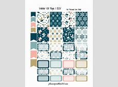 Winter Kit! Free Printable Planner Stickers – PlannerProblem