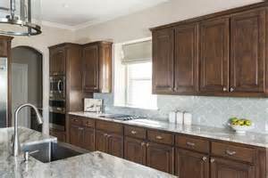 brown fantasy dark cabinets backsplash ideas
