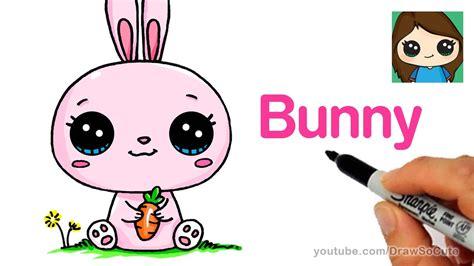 draw  cartoon bunny rabbit easy youtube cute