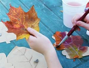 Malen Mit Kindern : basteln mit kindern tiere andere dinge aus laub basteln ~ Orissabook.com Haus und Dekorationen
