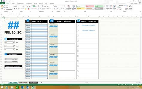 daily work schedule template microsoft community