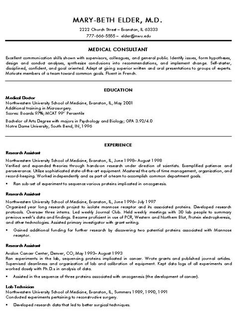 Doctor Resume by Doctor Resume Exle Exles And
