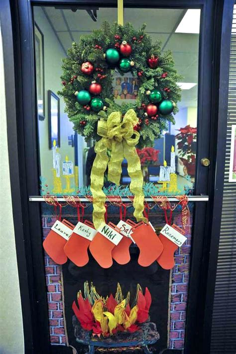 christmas office door decorating ideas holiday party