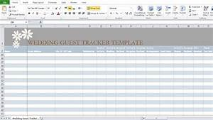 Wedding Guest List Template In Excel - Excel Tmp