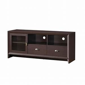 techni mobili wenge modern tv stand with storage for tvs up to 60 in rta 8807 wn the home depot With mobili tv amazon