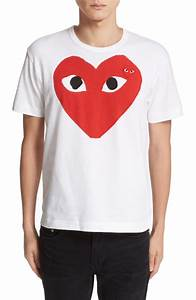 Comme des Garçons PLAY Heart Face Graphic T-Shirt Nordstrom