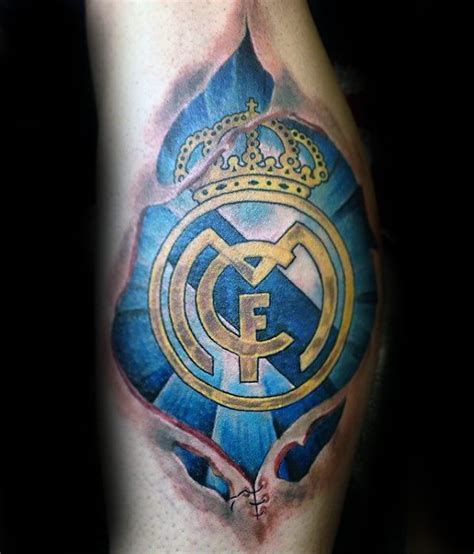 real madrid tattoo designs  men soccer ink ideas