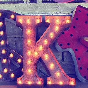 rusty 24 inch letter k marquee light by vintage marquee lights With lighted letter k