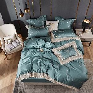 2018, Luxury, Egyptian, Cotton, Bedding, Set, Twin, Queen, King