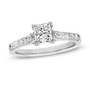 princess cut solitaire engagement rings 1 ct t w certified colorless princess cut solitaire engagement ring in 18k white gold