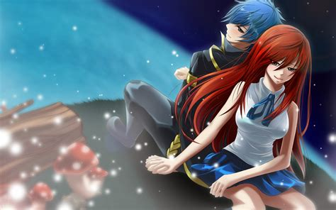couples  fairy tail images erza  jellal hd fond