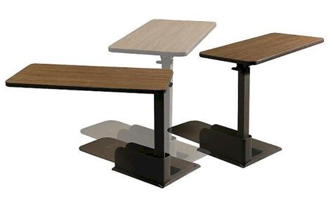 swing arm laptop table overbed or over wheelchair lift table elderstore com
