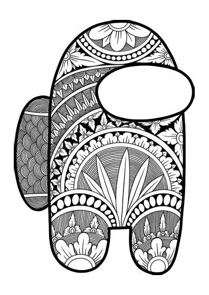 Among Coloring Pages Adults Printable