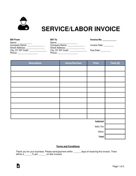 Free Servicelabor Invoice Template  Word  Pdf  Eforms. Resume Template For High School Graduate Template. Regal Entertainment Group Gift Card Check Balance Template. Label Printing In Word 2010 Template. Job Reference Letter Samples Image. Sample Summary Of Qualifications For Resumes Template. What Is A Professional Profile Template. Patient Registration Form Sample. Sample Special Skills In Resume Template