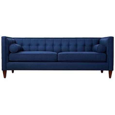 blue tufted sectional sofa jodi 84 quot tufted sofa navy sofas loveseats 1 519 liked