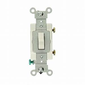 Leviton Prograde 15 Amp Lighted Specialty Switch  White